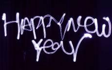 открытка, поздравление, новый год, черный фон, с новым годом, праздник, happy new yeur