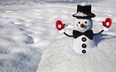 мягкая игрушка снеговик в снегу