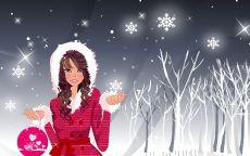 Снегурочка в зимнем лесу