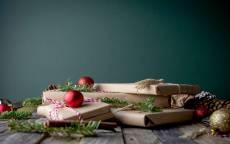 открытка для заполнения, новый год, подарки, елочные игрушки, поздравление, поздравительная открытка