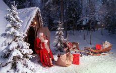 Дед мороз на пороге дома