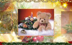 Новогодняя открытка с медведем