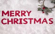 поздравление, с рождеством, белый снег, красная надпись