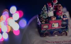 Рождество, паровоз, игрушка