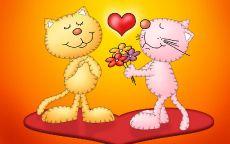 День Святого Валентина Кошки