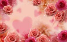 День Святого Валентина Сердце в розах