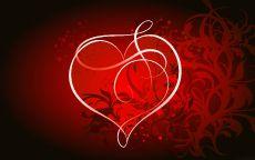 День Святого Валентина Белое сердце
