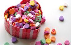 День Святого Валентина коробка с конфетами
