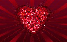 День Святого Валентина Сердечки в сердце
