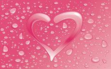 День Святого Валентина сердце и капли