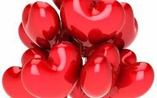 Открытка, День Святого Валентина, воздушный шар в виде сердца