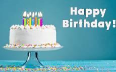 Праздничный торт с днем рождения