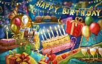 Праздничная открытка с Днем Рождения!