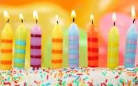 С Днем Рождения, свечки, торт