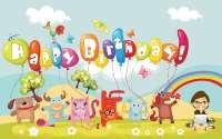 веселые зверюшки поздравляют с Днем Рождения!