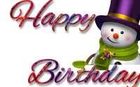 снеговик поздравляет с Днем Рождения