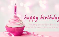 поздравление женщине с днем рождения открытка, тортик с розовой свечкой, кекс с розовой свечкой, свечка поздравительная