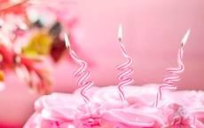 поздравление с днем рождения открытка, открытка для телефона, торт со свечками