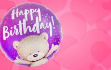 праздничная открытка, праздничная картинка, воздушный шар, фон розовые сердца