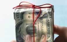 Открытка, счастье, успех, везение, день рождения, подарок, доллары