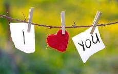 прикольная открытка с днем влюбленных, сердце на веревке