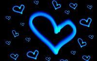 Любовь Синие сердца