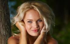 Фотомодель, Таллия Черри, блондинка, голубые глаза