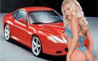 Ferrari 550 Maranello и девушка