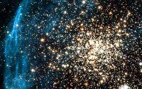 Скопление звезд в созвездии Золотая Рыба