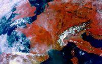 Вид на Европу из космоса