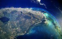 Вид на город из космоса