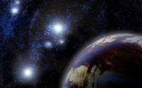 Звездное небо над чужой планетой