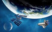 МКС и космический корабль