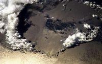 Вид на ночную Землю из космоса