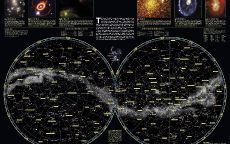 Карта звездного неба National Geographic