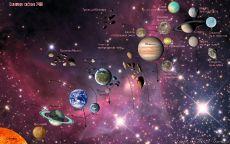 Схема солнечной системы со спутниками