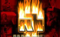 Логотип Rammstein в огне
