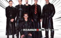 Группа Rammstein в кожаных плащах