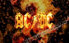 Огненный плакат acdc