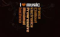Плакат я люблю музыку