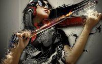 Стильная скрипачка