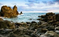 Камни, скалы, море, волны