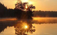 Утренний туман на озере