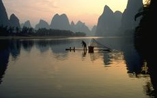 Рыбак на закате
