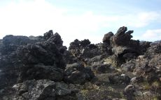 Камни на склоне вулкана