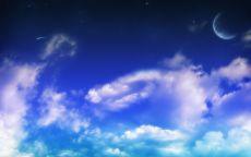 Облака и луна.