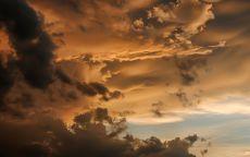 Коричневые облака.