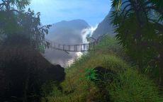 Подвесной мост в джунглиях