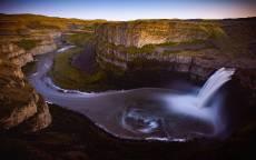 водопад, каньон, река