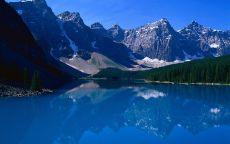 Синее озеро в горах